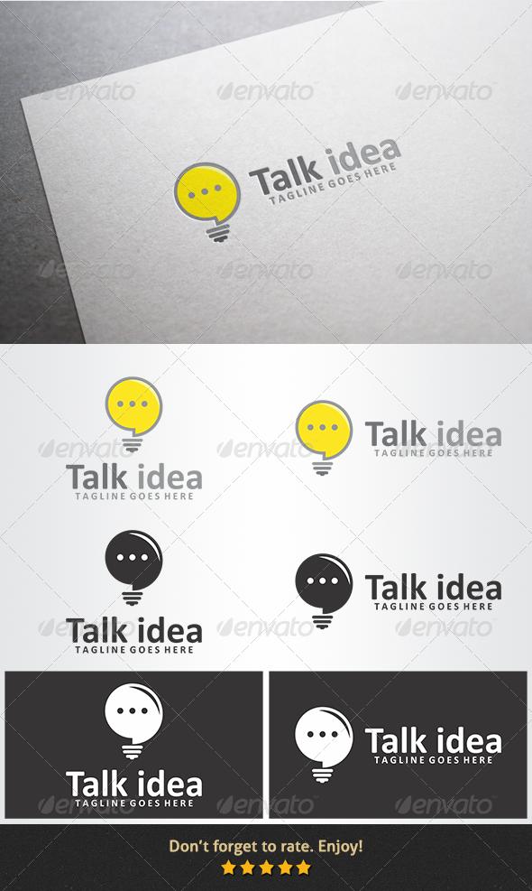 GraphicRiver Talk Idea Logo 6124526