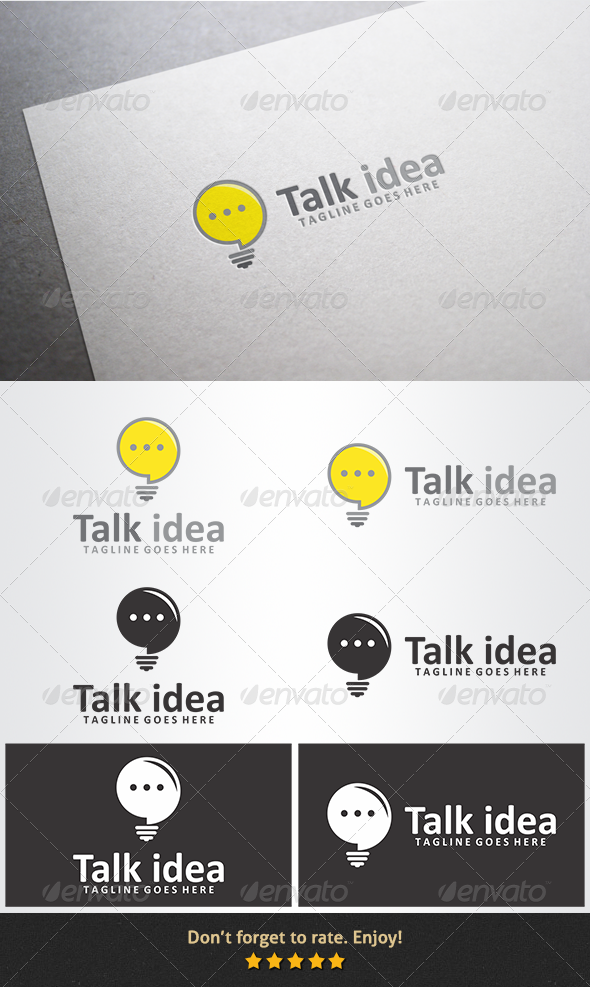 Talk Idea Logo - Symbols Logo Templates