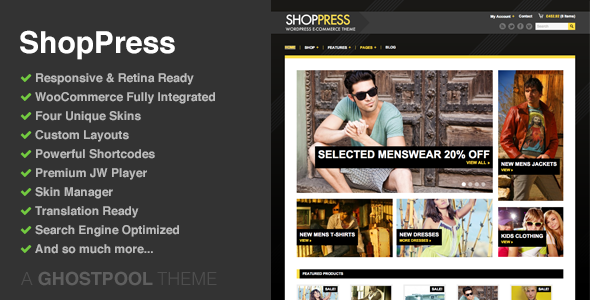 ShopPress Responsive WooCommerce WordPress Theme