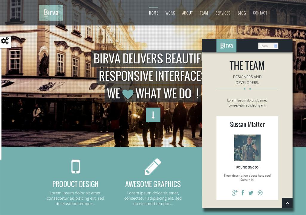 Birva- Responsive Multipurpose One Page HTML Theme