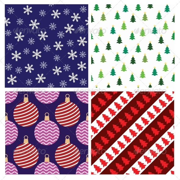 GraphicRiver Christmas Seamless Patterns 6124861