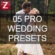5 professional wedding presets - GraphicRiver Item for Sale