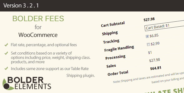 CodeCanyon Bolder Fees for WooCommerce 6125068