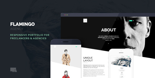 ThemeForest Flamingo Agency & Freelance Portfolio Theme 6077145