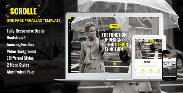 ThemeForest Scrolle Responsive Parallax One Page Template 6125513