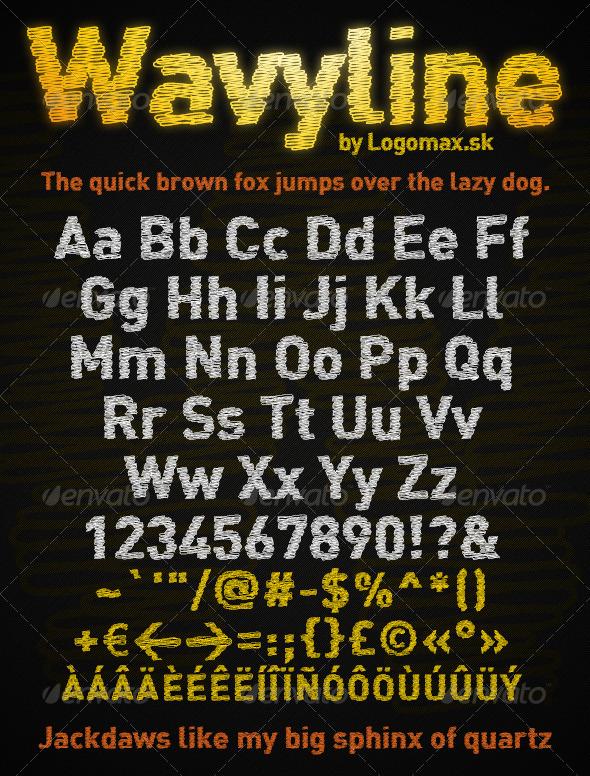 GraphicRiver Wavyline Font 6125520