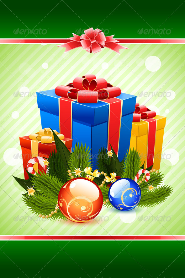 GraphicRiver Christmas Card Template 6125614
