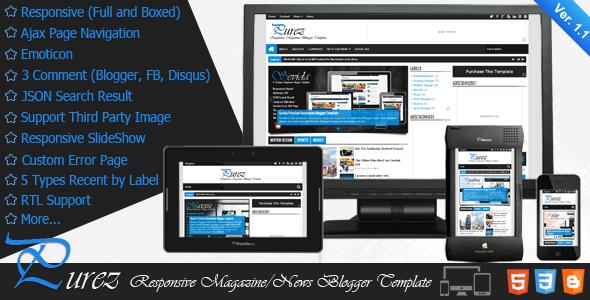 Purez - Responsive Magazine Blogger Template - Blogger Blogging