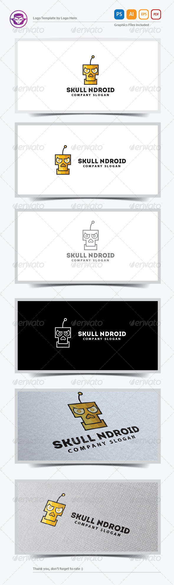 GraphicRiver Skull Ndroid Logo Template 6125850