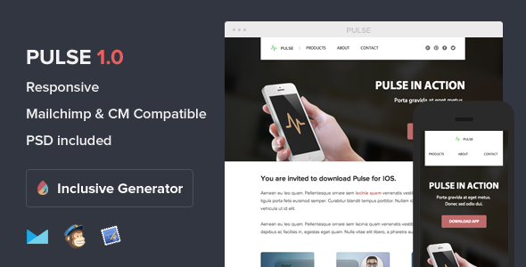 ThemeForest Pulse Responsive Email With Template Builder 6124716