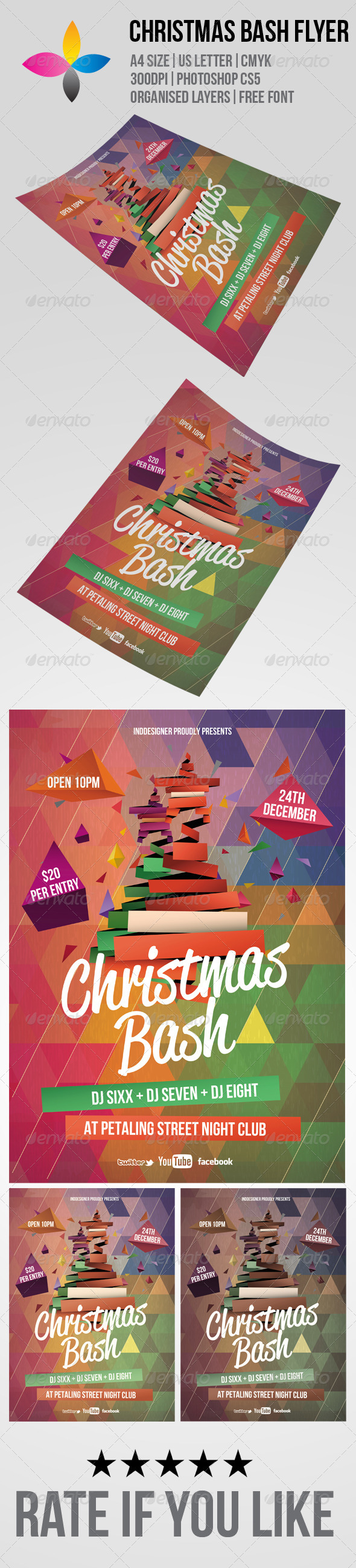 GraphicRiver Christmas Bash Flyer 6126619
