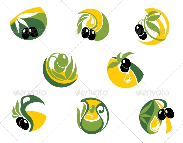 GraphicRiver Green and Black Olives Elements 6126621