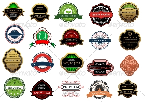 GraphicRiver Labels and Banners 6126657