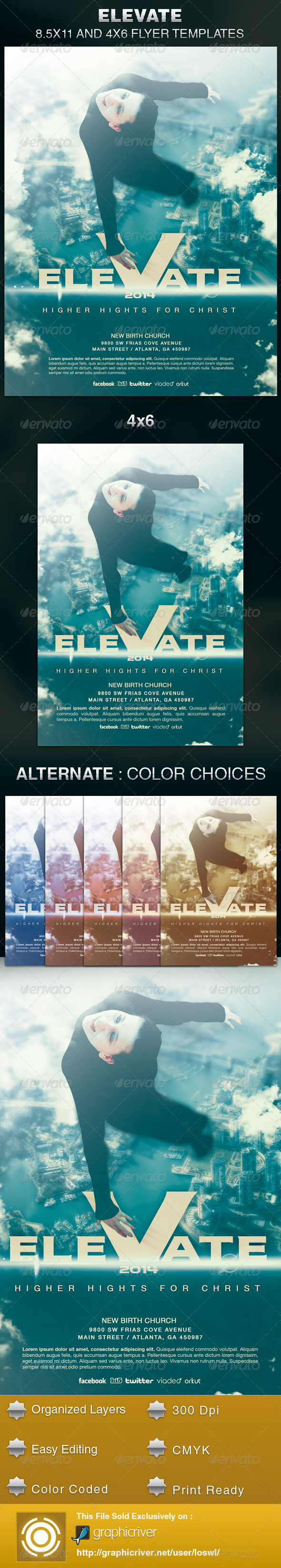 GraphicRiver Elevate Church Flyer Template 6126666