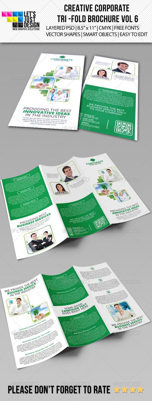 GraphicRiver Creative Corporate Tri-Fold Brochure Vol 6 6126684