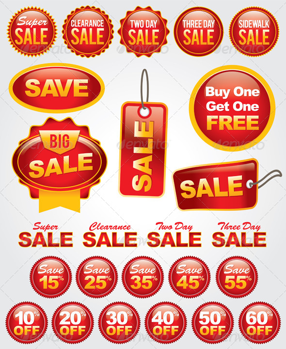 GraphicRiver Vector Set of Sale and Promotion Labels and Badges 6126701