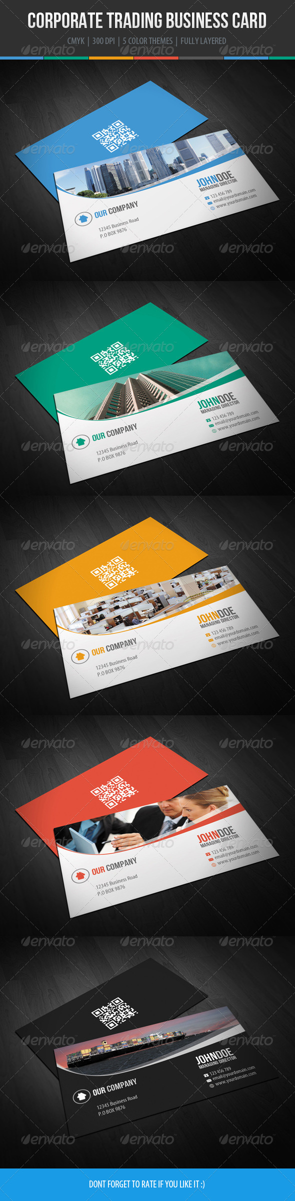 GraphicRiver Corporate Trading Business Card Design 6061878