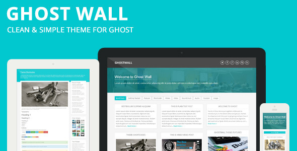 ThemeForest GhostWall Clean Theme For Ghost 6071837