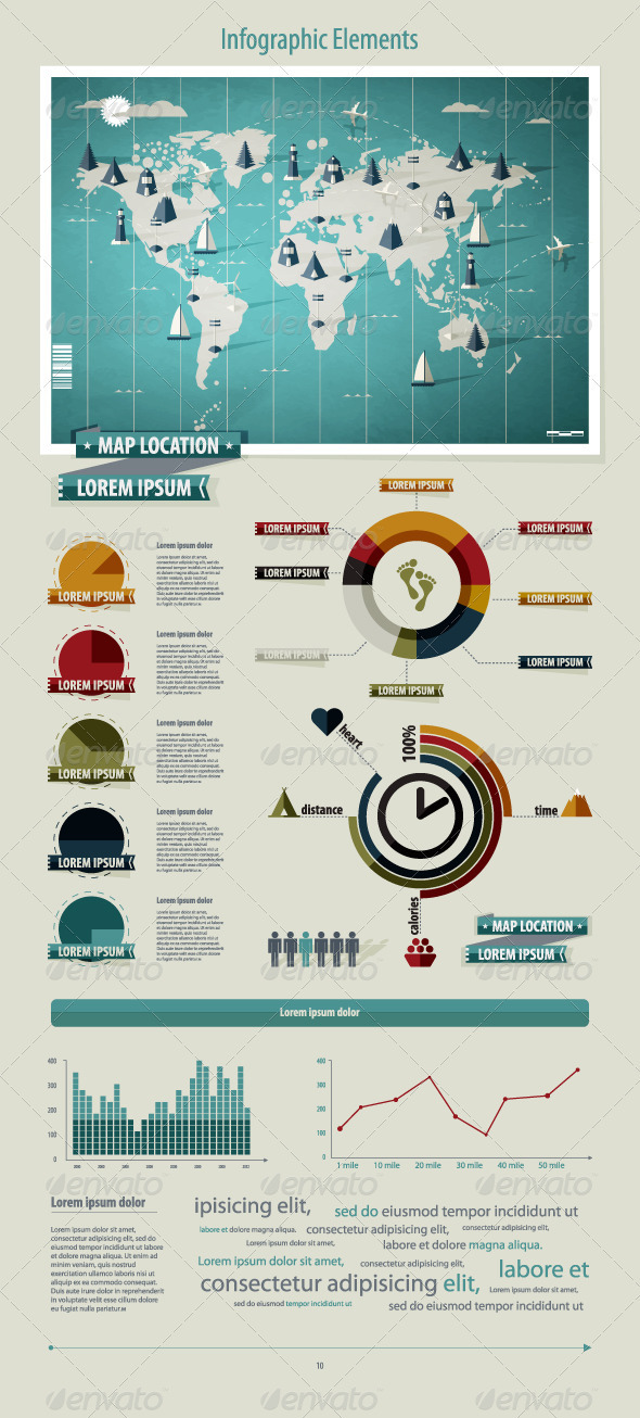 GraphicRiver Set elements of infographics World Map 639699