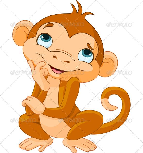 GraphicRiver Monkey Thinking 6127298