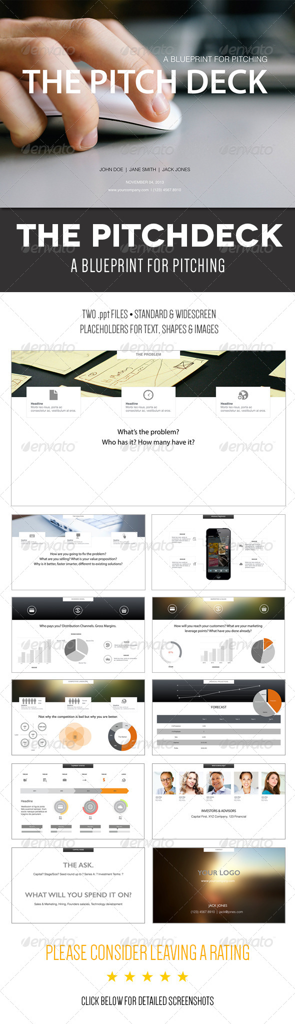 GraphicRiver The Pitch Deck A Powerpoint Template 6127385