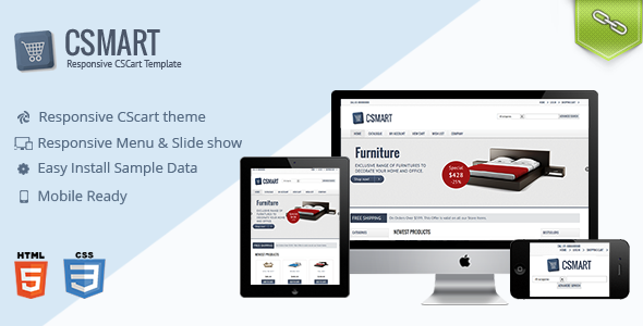 ThemeForest Csmart Responsive Cs-cart theme 6117824