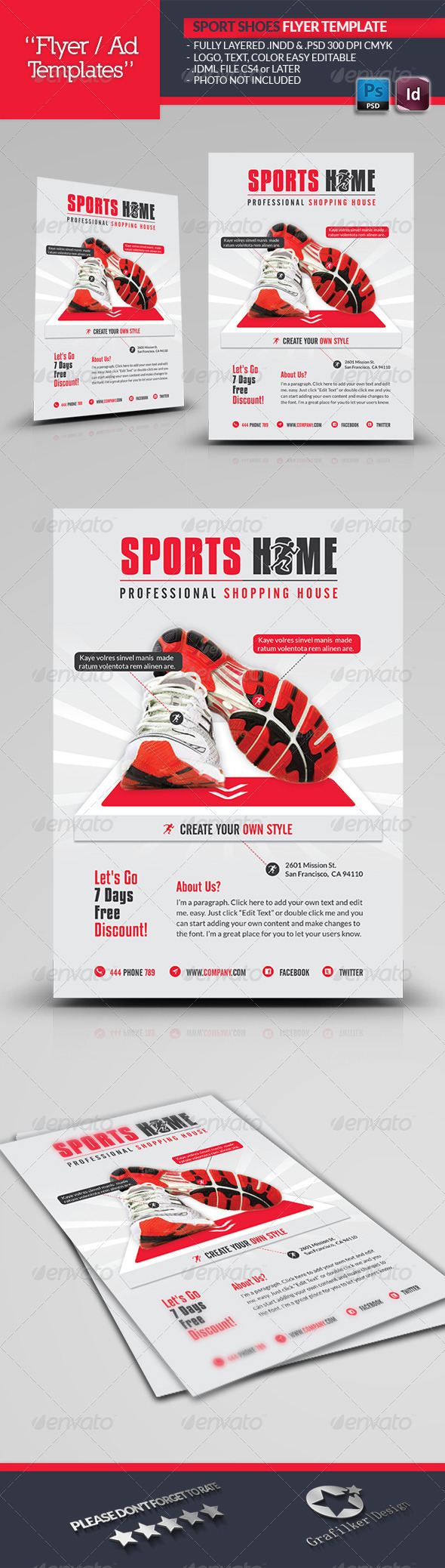 GraphicRiver Sports House Flyer Template 6128980