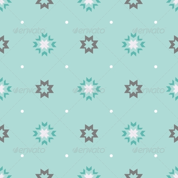 Abstract Geometric Seamless Ornament Pattern