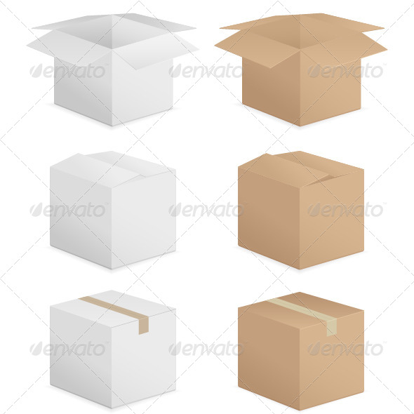 GraphicRiver Cardboard Boxes 6130642