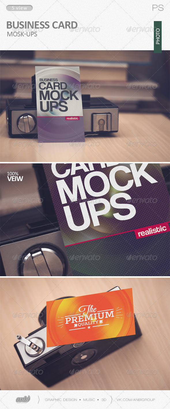 GraphicRiver Business card Mock-Ups photo 6130644