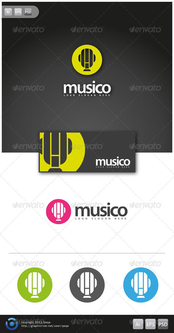 GraphicRiver Music Logo 02 6130945