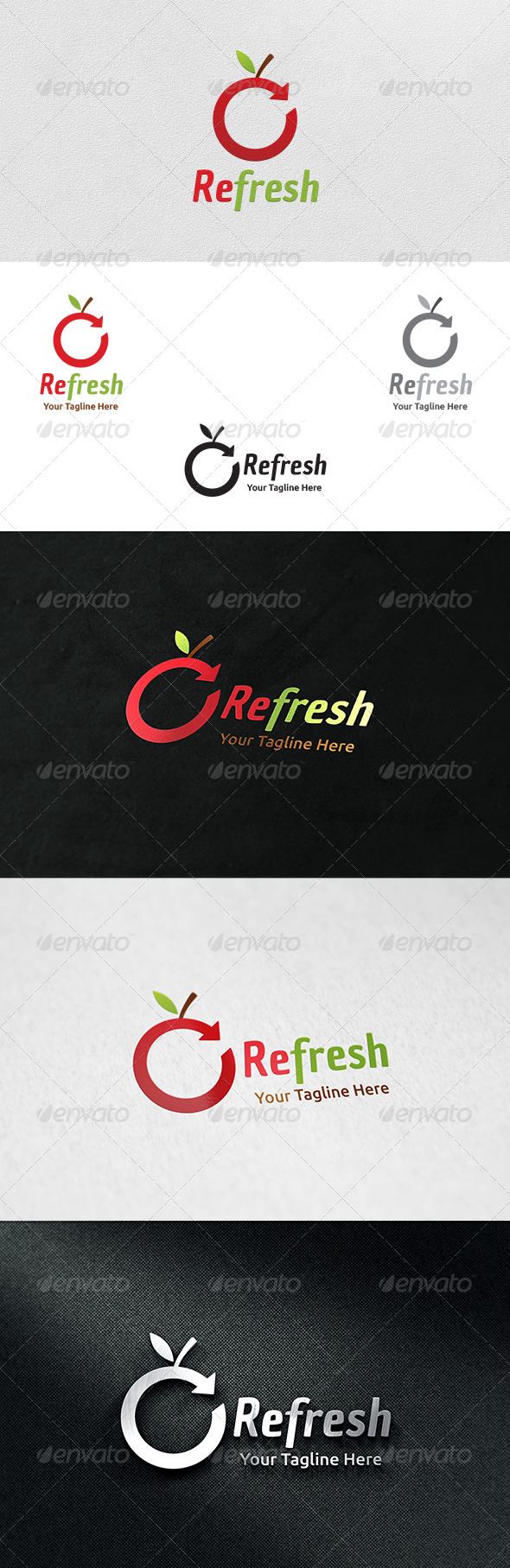 GraphicRiver Refresh Logo Template 6131111