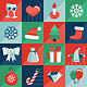Vector Christmas Icons and Signs in Flat Style - GraphicRiver Item for Sale