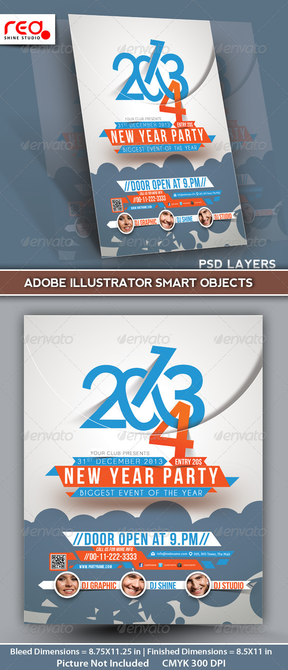 GraphicRiver New Year s Party Flyer & Poster Template 2 6131830