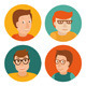 Vector Set of Avatars in Flat Style - GraphicRiver Item for Sale