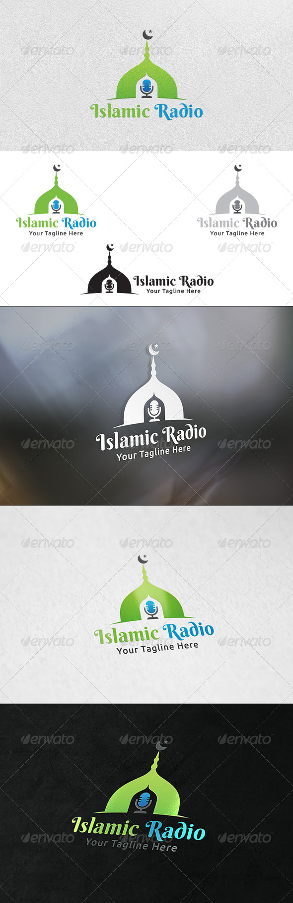 GraphicRiver Islamic Radio Logo Template 6131932