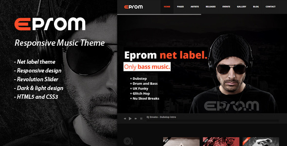 Eprom - Responsive Music Theme - Music and Bands Entertainment