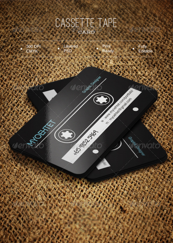 GraphicRiver Cassette Tape Card 6132151