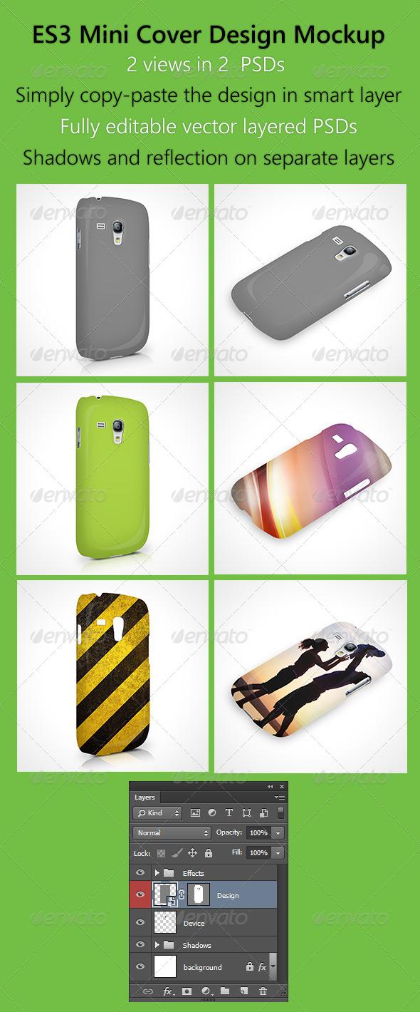 GraphicRiver ES3 mini cover design mockup 6132360