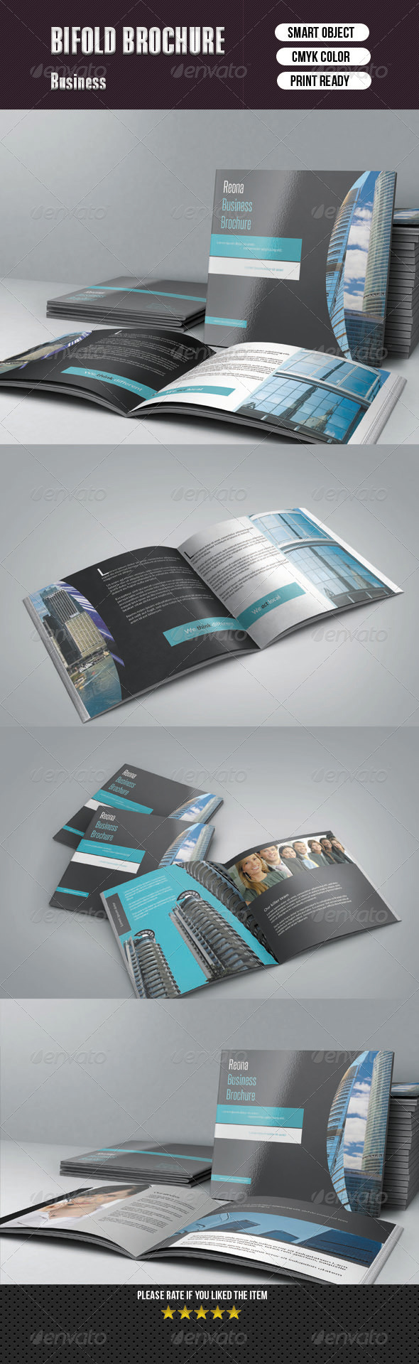 Square Bifold Business Brochure -10 pages - Corporate Brochures