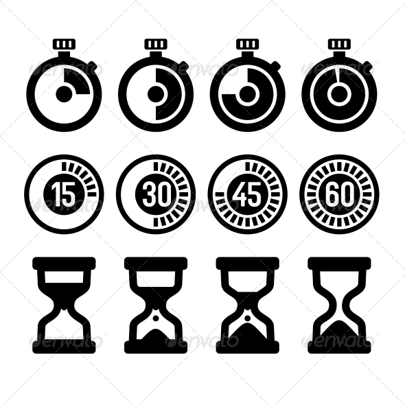 GraphicRiver Timers Icons Set 6132425