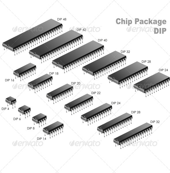 GraphicRiver Chip Package DIP 6132430