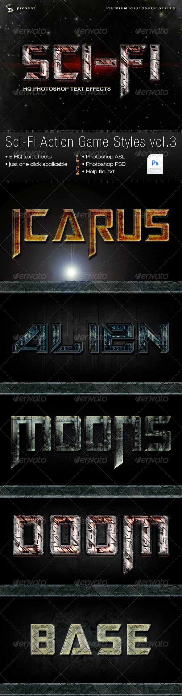GraphicRiver Sci-fi Action Game Styles Vol.3 6132442