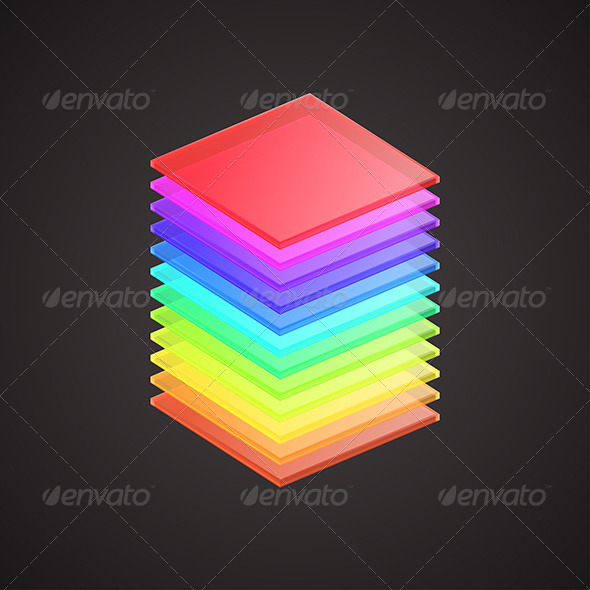 GraphicRiver Colored Glass Plates 6132480