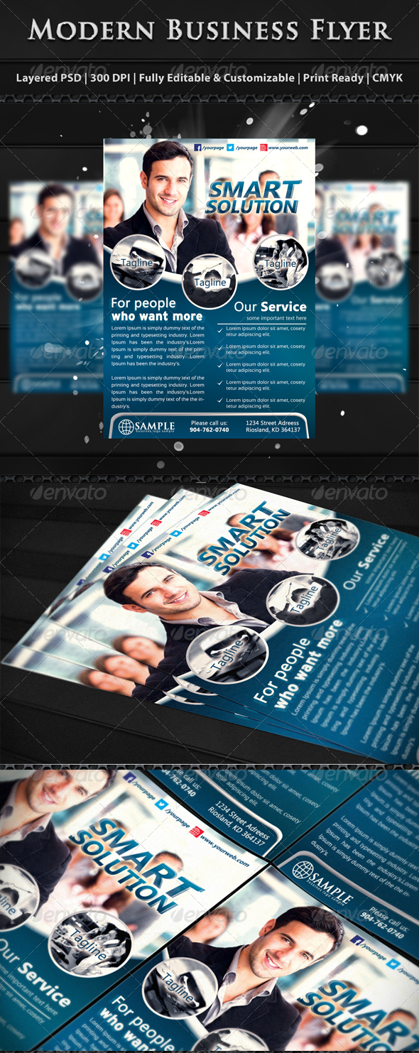 GraphicRiver Modern Corporate Business Flyer Templates 6131748