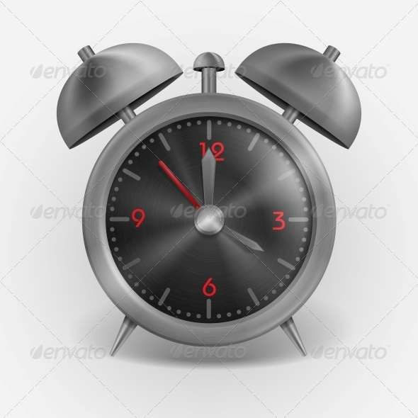 GraphicRiver Metal Classic Style Alarm Clock 6132697