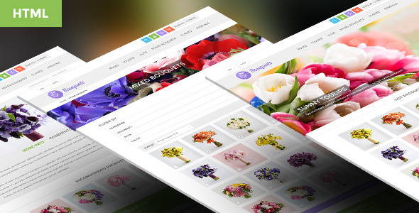 ThemeForest Bouquets Responsive HTML5 eCommerce Template 6106639