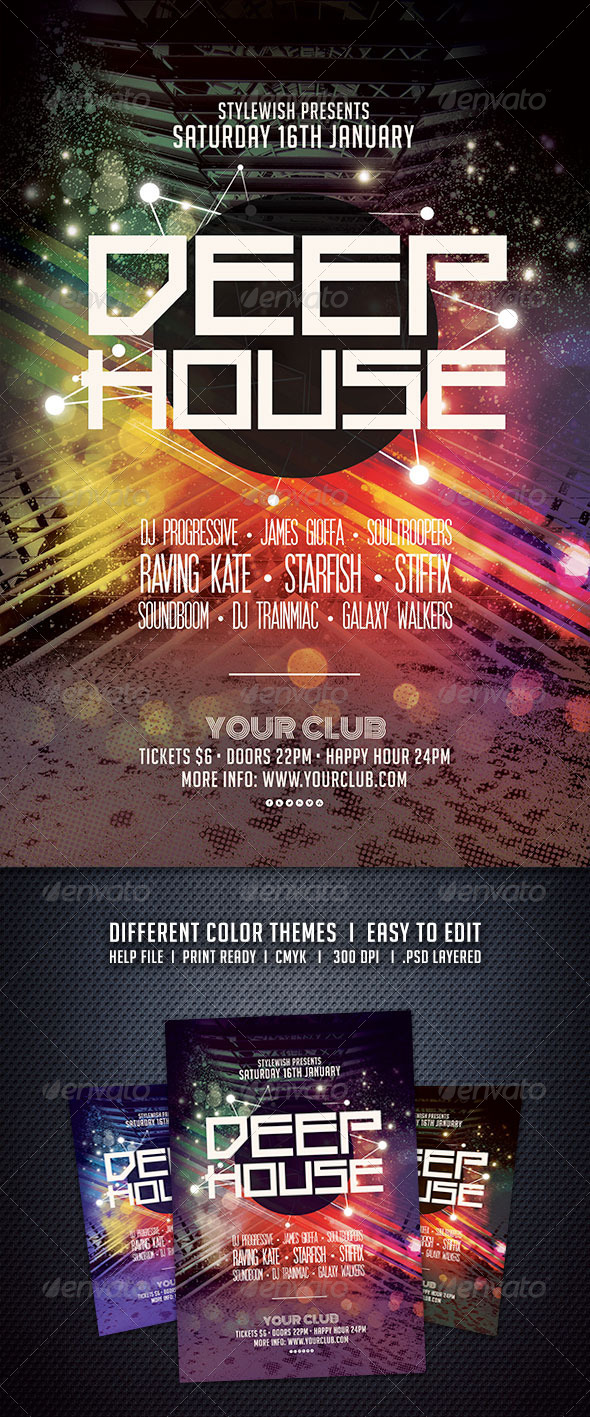 GraphicRiver Deep House Flyer 6132795