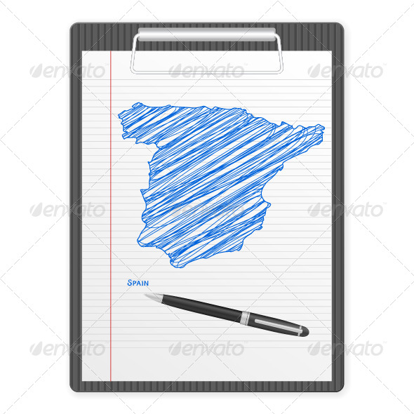 GraphicRiver Clipboard Spain Map 6132928