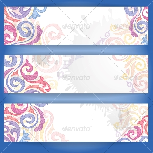 GraphicRiver Set of Colorful Banners 6132996